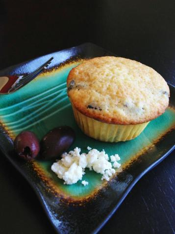 kalamata and feta cupcakes
